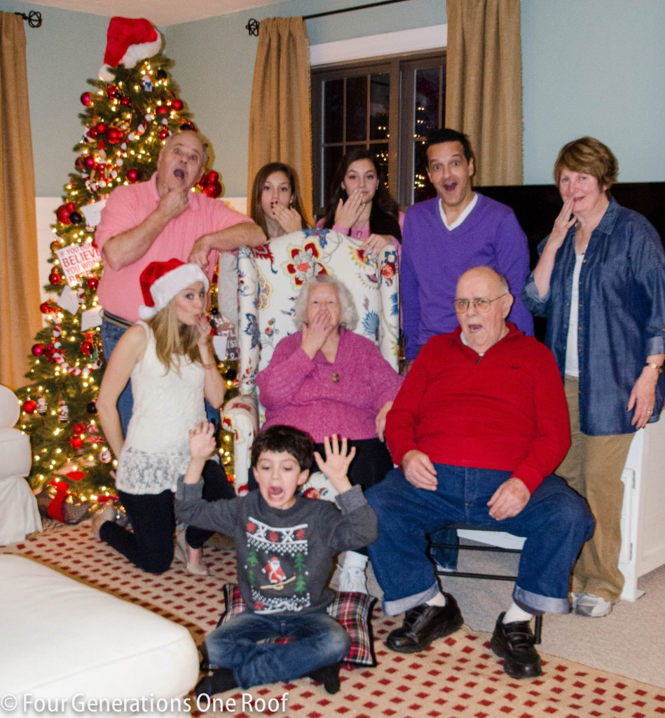 4generations1roof Christmas Eve