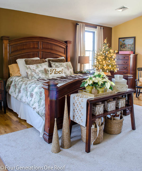 mini Christmas bedroom makeover {before and after}