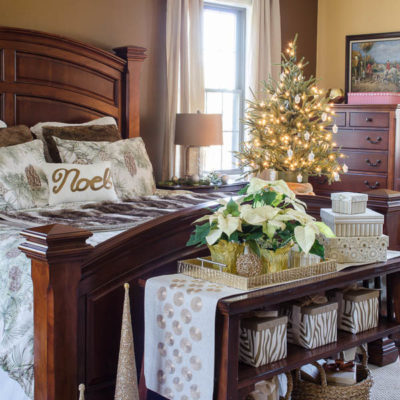 Mini Christmas bedroom makeover {before & after}