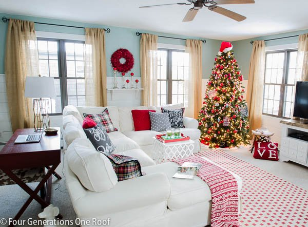 Gorgeous Christmas Home Tour 2014 Part 1 Four Generations One Roof