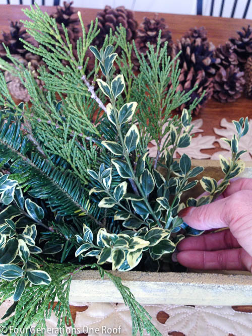 Christmas decorating with fresh greenery-2
