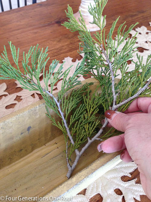 Christmas decorating with fresh greenery-3