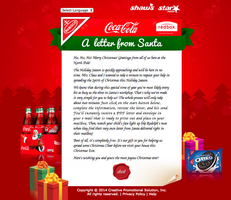 Special letter from Santa
