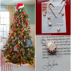 Secret Santa letter graphic