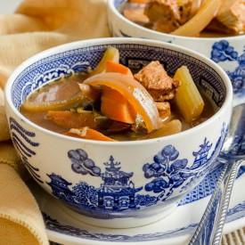 So delicious! Crock pot chicken stew