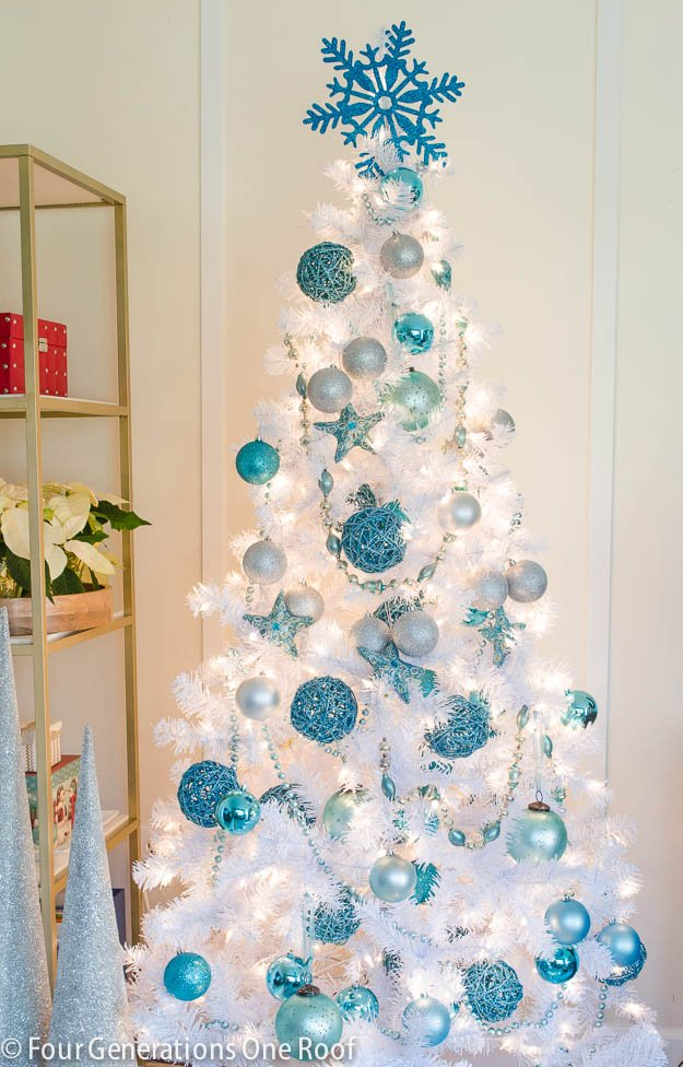 blue and white christmas tree - Blue And White Christmas Decorations