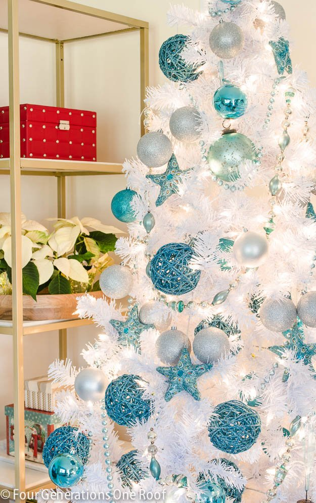 white blue christmas tree 3