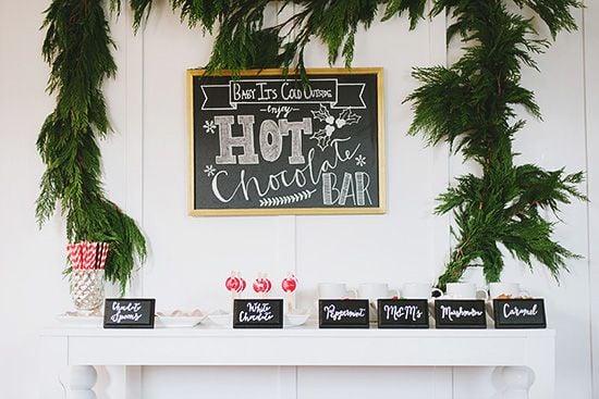 greenery-over-hot-chocolate-bar