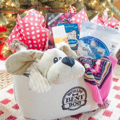 Easy to make Dog Christmas Gift Basket