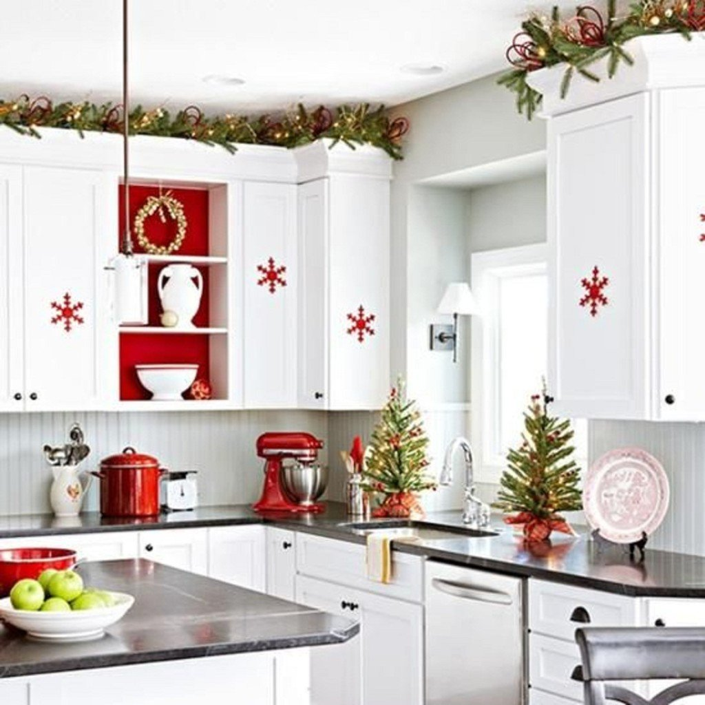 kitchen decorating for christmas