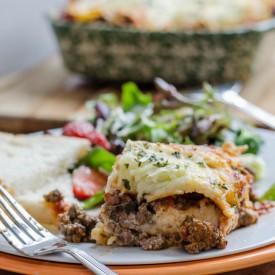 Easy baked lasagna dinner