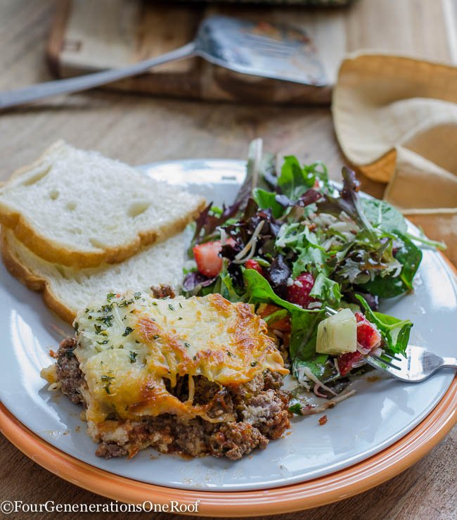 Best meat lasagna recipe + mozzarella cheese