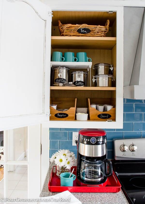 DIY Coffee Station + coffee cabinet