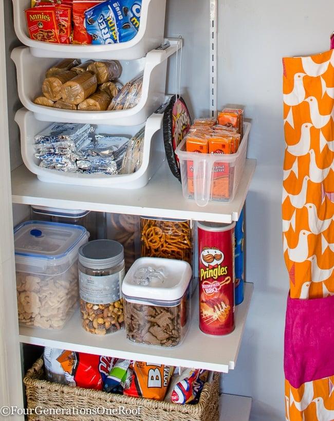 diy food pantry closet