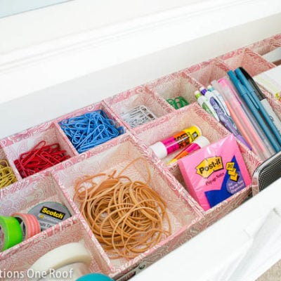 Organizing my office drawer {1 hour or less}