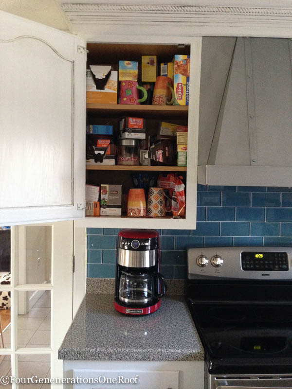diy coffee station before pictures