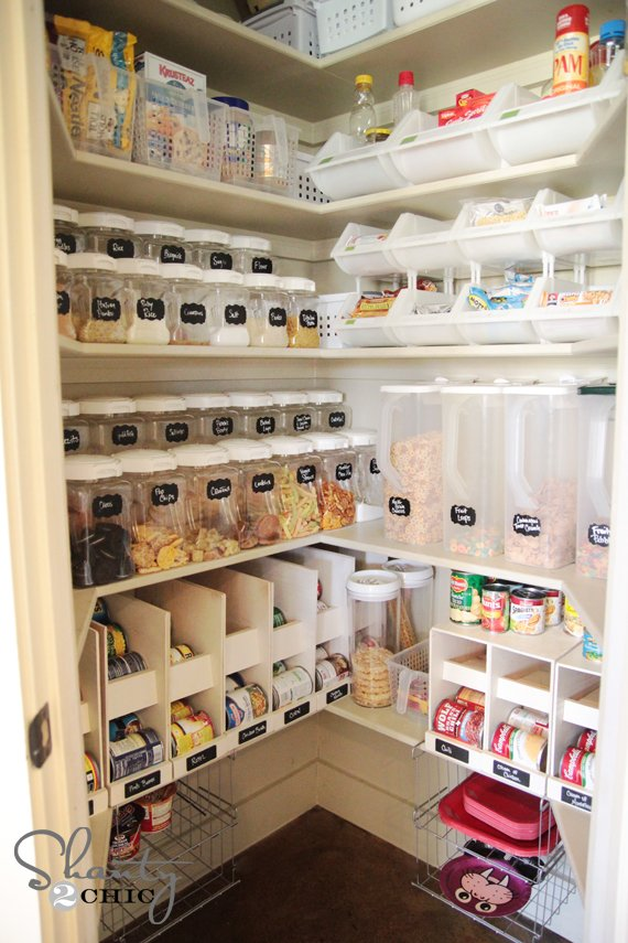 Try this 8 ideas pantry organization tips four for Pantry can storage diy