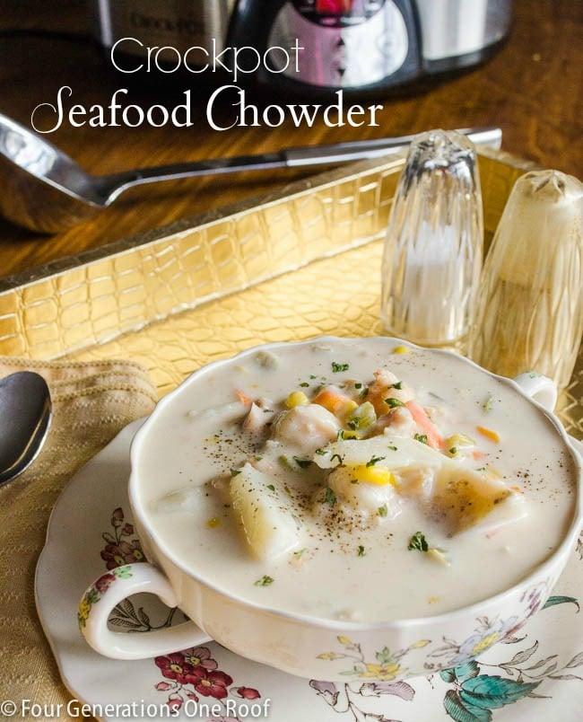 Cod chowder slow cooker for Fish chowder crock pot