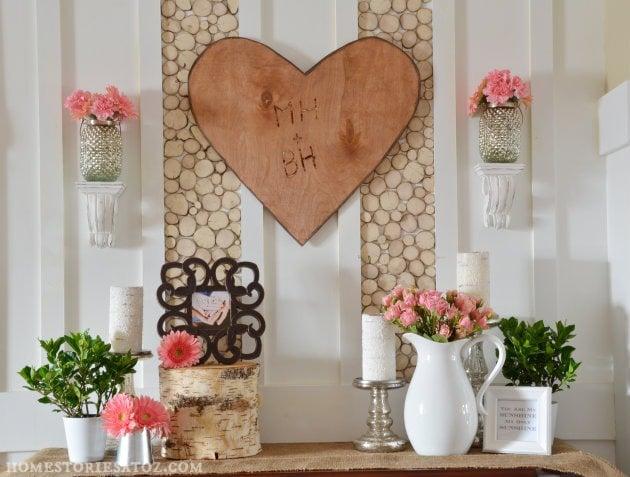 Decorating For Valentineu0027s Day   Valentines Mantel