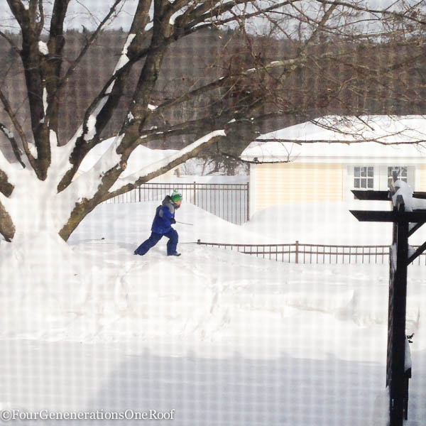 103 inches of snow + february school vacation