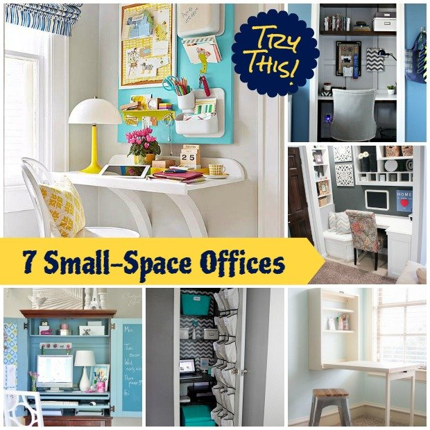 Office organization ideas for small spaces photo for Small space office ideas