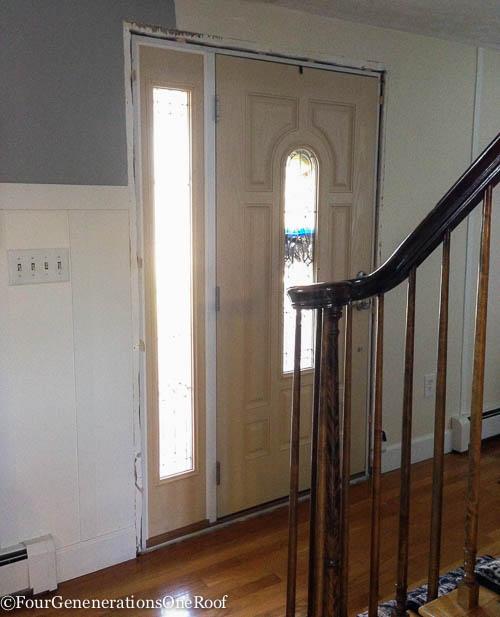 How to add new door molding our front door four generations how to front door interior trim planetlyrics Images