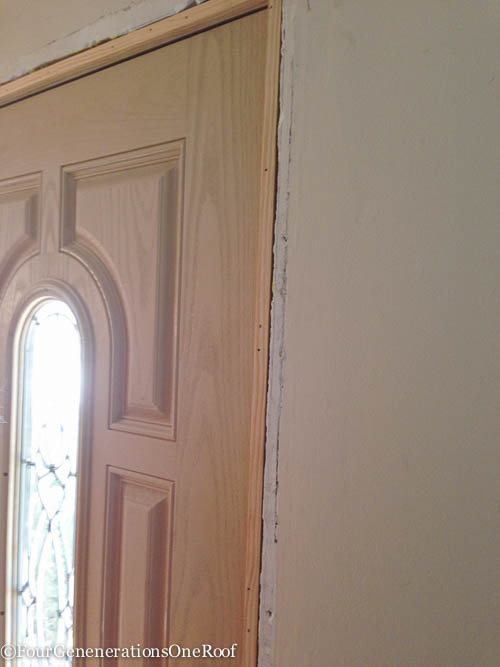 How To Add New Door Molding Our Front Door Four Generations One Roof