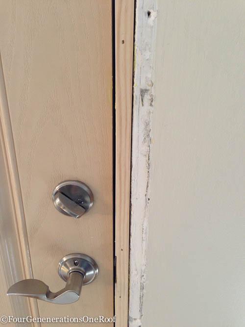 How To- Front door interior trim -6