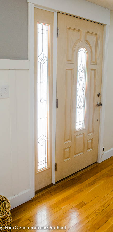 How to add trim to a front door {before & after