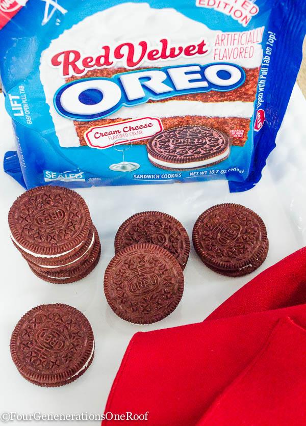 Red Velvet Oreo Cookie Pops