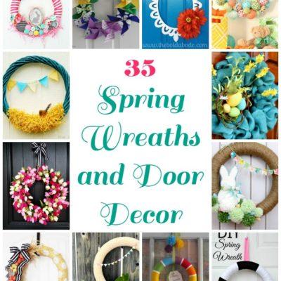 35 Spring Wreaths and Door Decor