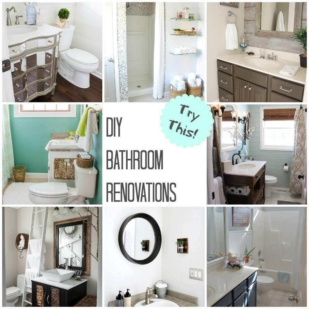 Diy Bathroom Makeovers: TRY THIS: DIY Bathroom Renovations