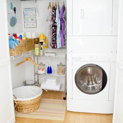 DIY Basement Laundry Room Makeover {before & after}