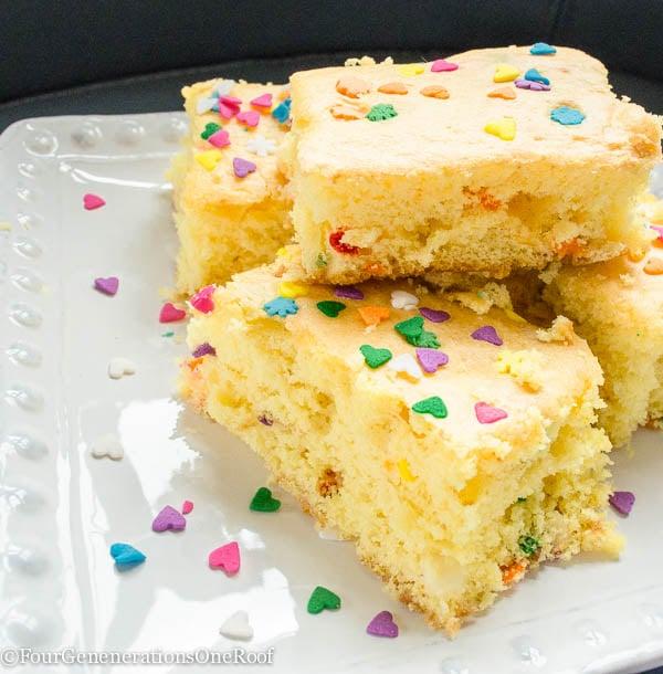 Quck & Easy cake batter treats