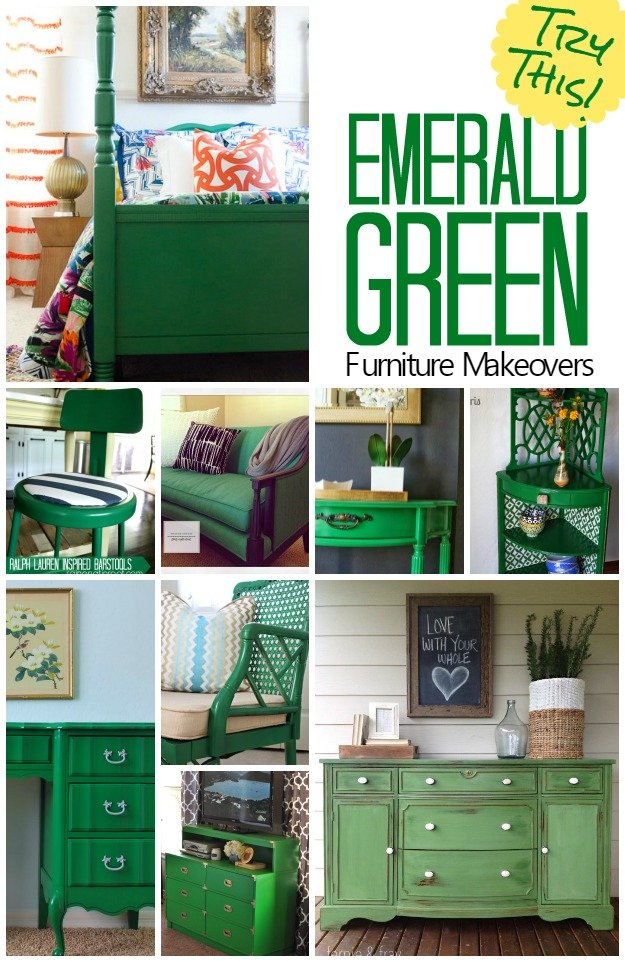 TRY THIS Emerald Green Furniture Makeovers Four
