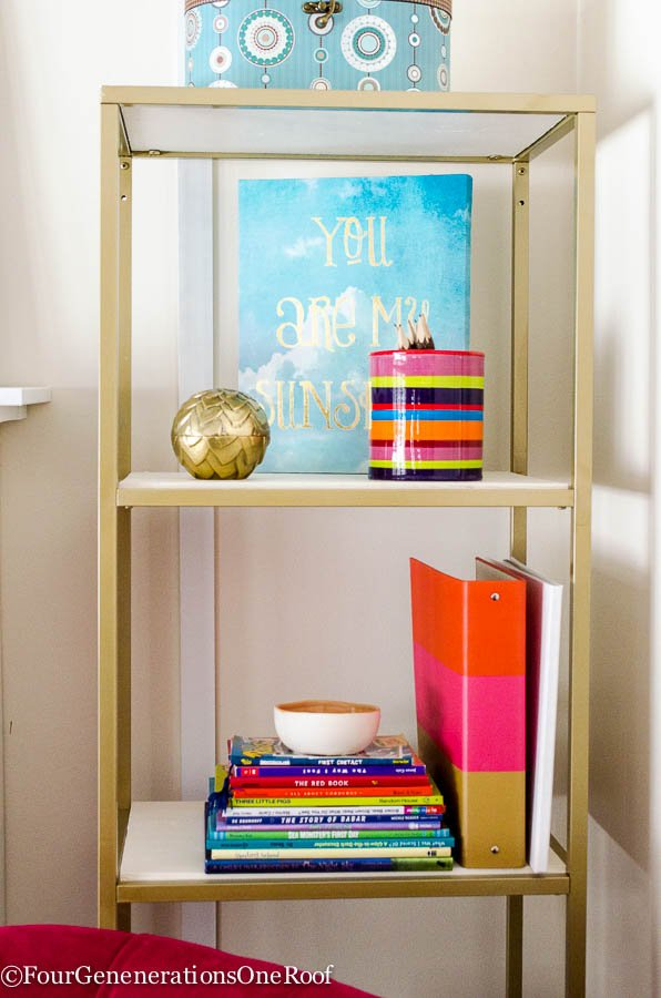 Ikea Hack Vittsjo shelving {spray paint + wooden shelf}