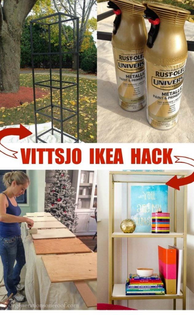Vittsjo IKEA Hack {spray Paint + Wooden Shelves}