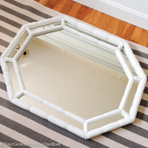 how to hang a mirror with painters tape