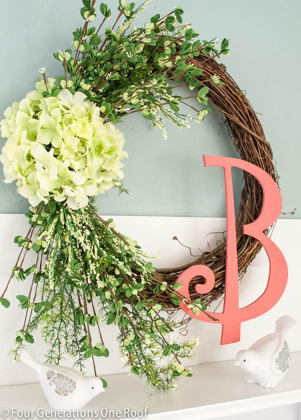 hydrangea-monogram-wreath