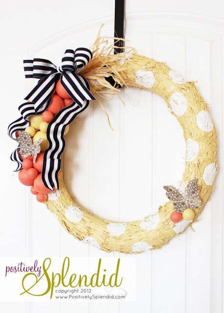 polka-dot-wreath-form