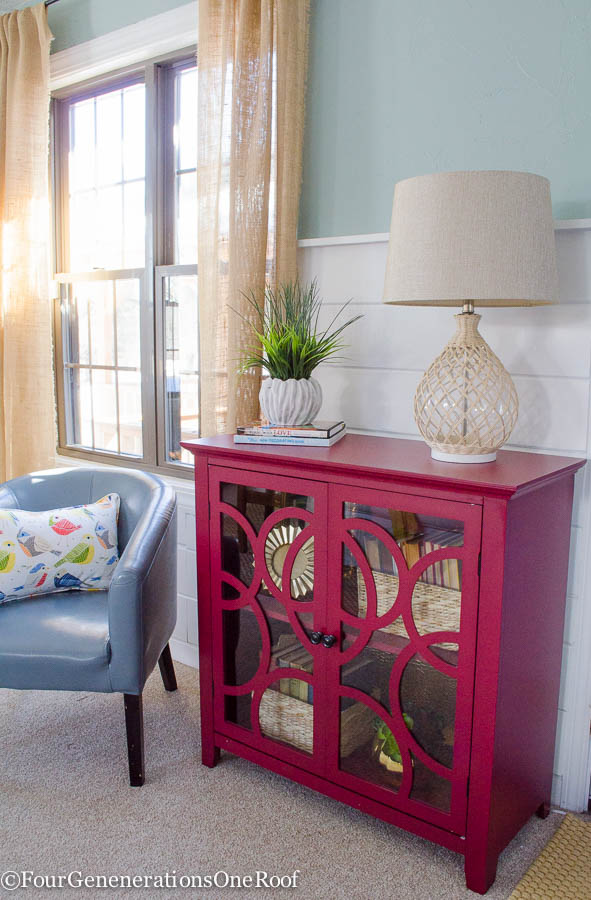 How to decorate a red bookcase for spring four generations one roof - Adorable dollhouse bookshelves kids to decorate the room ...