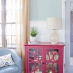 Decorating a red bookcase - Four Generations One Roof-5