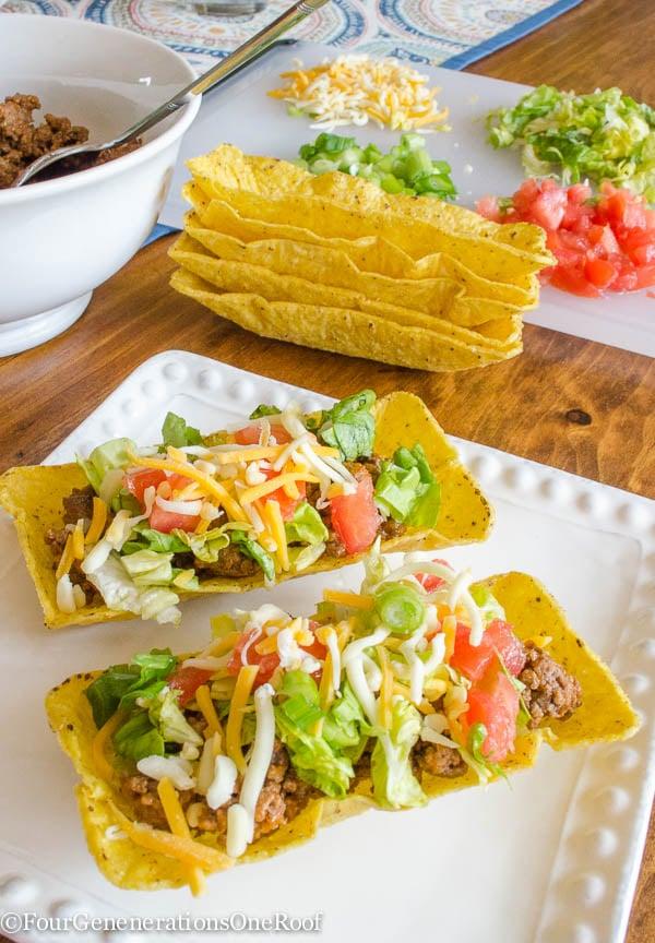 How to make tacos / flat bottom taco shells