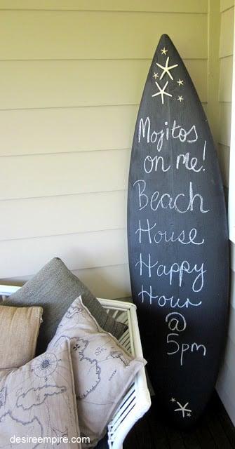 Surfboard-chalkboard