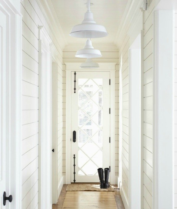 white-planked walls