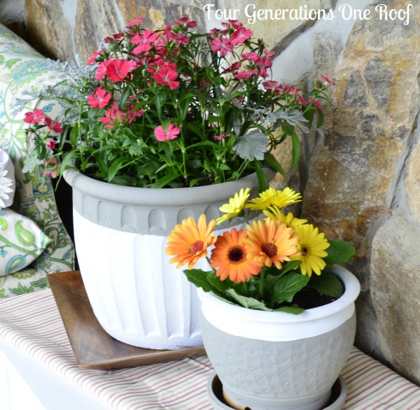 Dipped-painted-pottery-planter