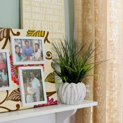 DIY fabric photo wall art + cleaning tips + $200 HomeDepot giveaway