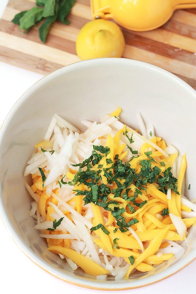 Jicama-Mango-Pear-Salad