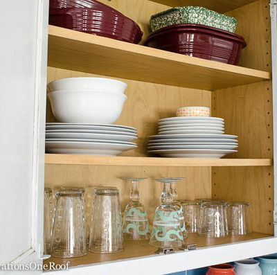 Yay! Our Organized kitchen cabinet looks pretty!