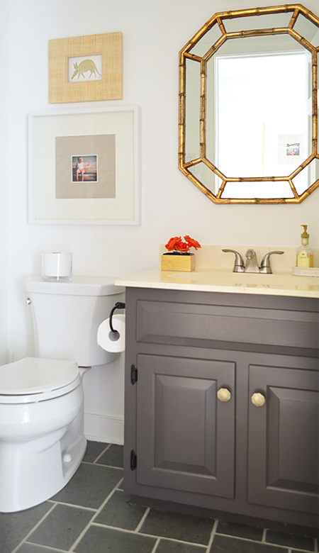 Try this a high style half bath makeover four generations one roof for How much to add a half bathroom